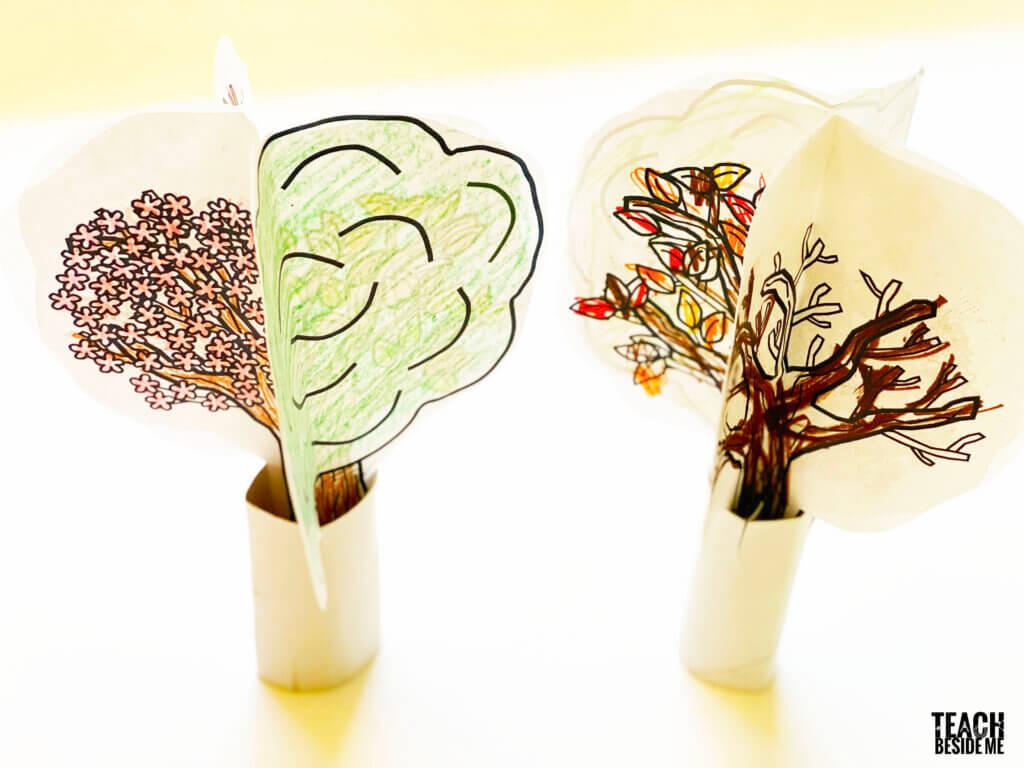 Four Seasons Tree Craft For Preschool