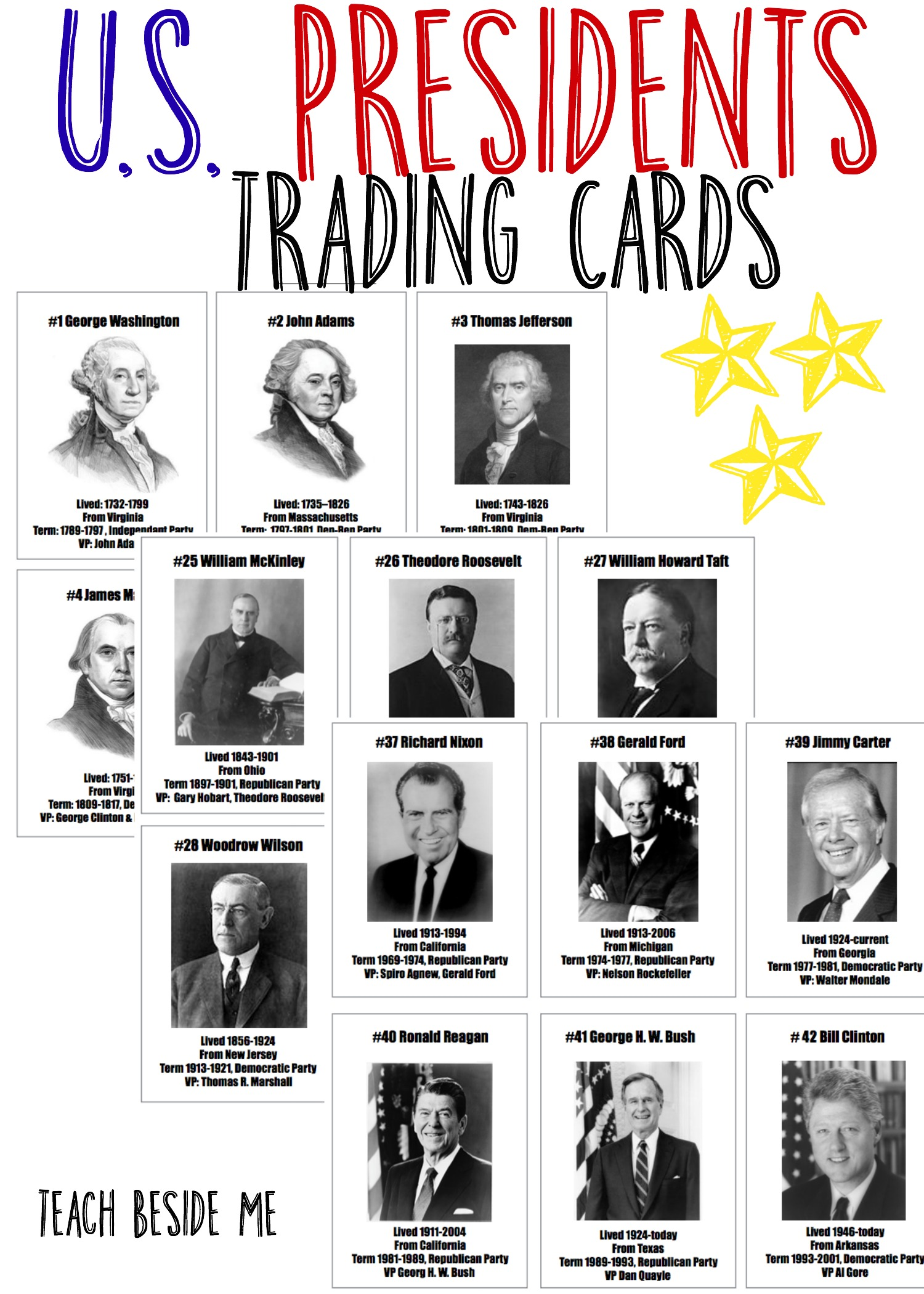President Trading Cards