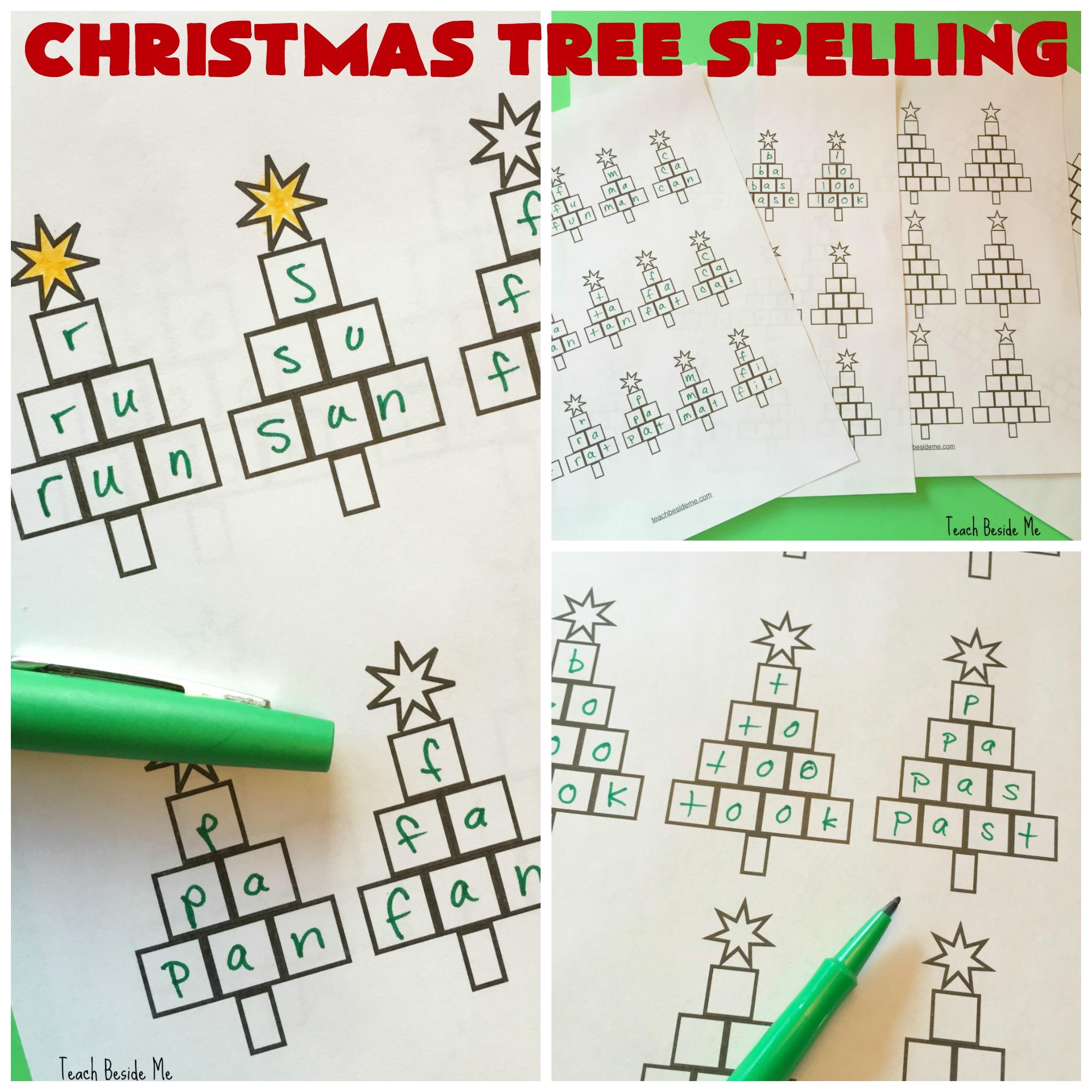 Christmas Tree Spelling Worksheets