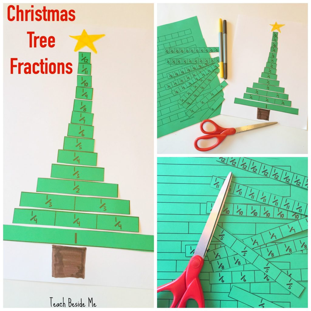 Christmas Tree Fractions Printable Activity