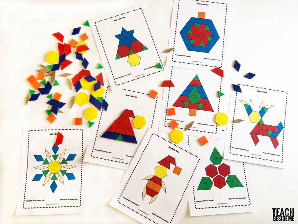 Christmas Pattern Block Templates
