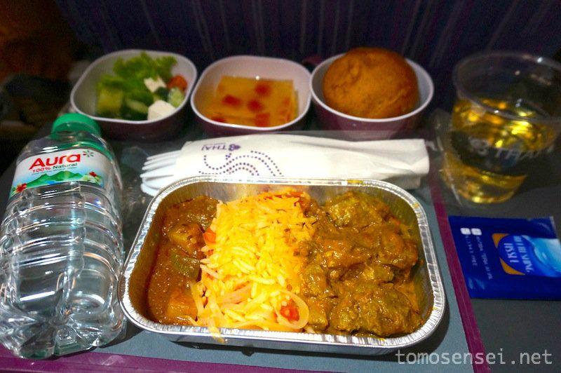 【タイ国際航空機内食】TG342/KHI-BKK/カラチ-バンコク(スワンナプーム)