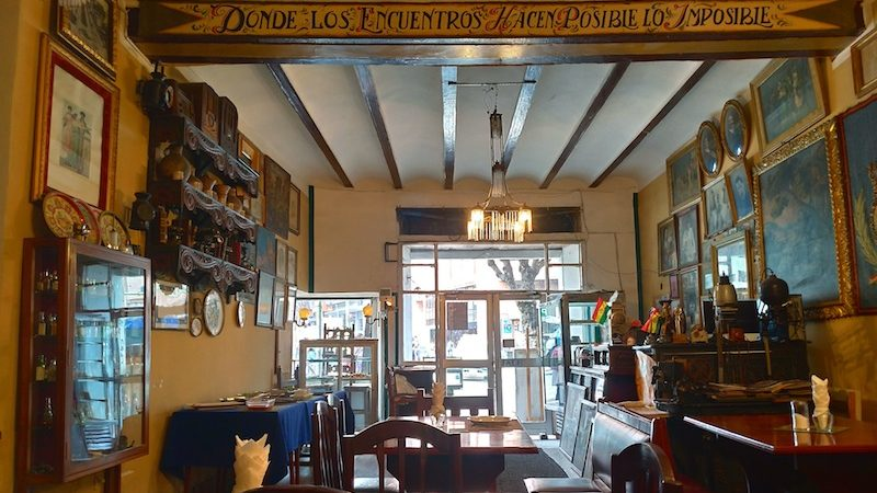 【世界一周】ラパスのステキコロニアルなレストランで洋食ランチ