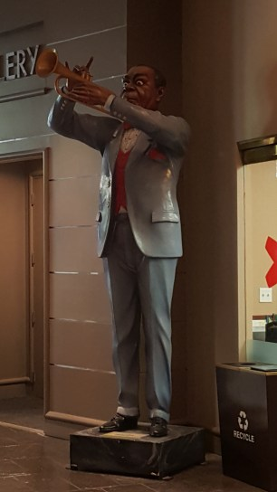 Luis Armstron, the jazz legend of New Orleans, image in the Sheraton Hotel