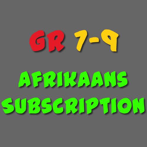 Afrikaans Subscription Grade 7-9