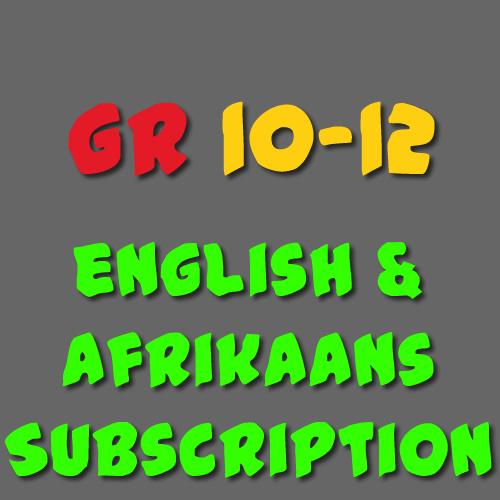 English & Afrikaans Subscription Grade 10-12