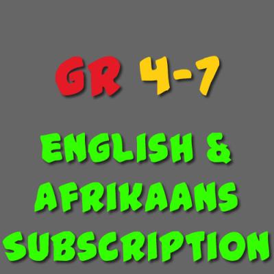 English & Afrikaans Subscription Grade 4 - 7