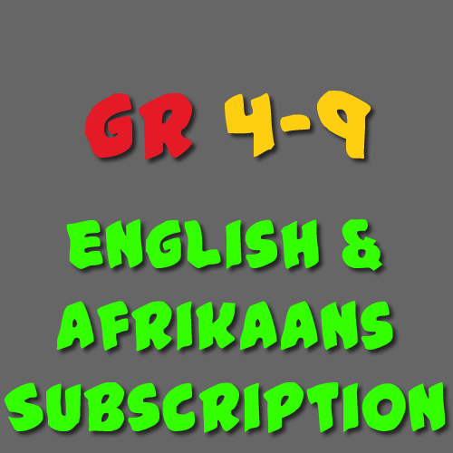English & Afrikaans Subscription Grade 4 - 9