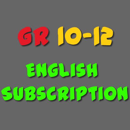English Subscription Grade 10-12