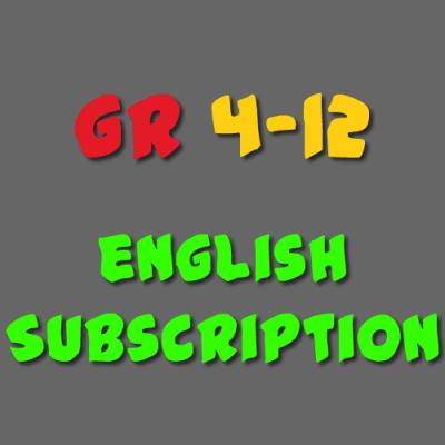 English Subscription Grade 4 - 12