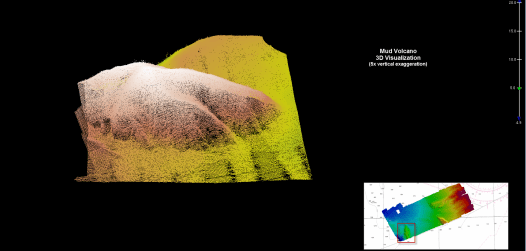3D image of the mud volcano