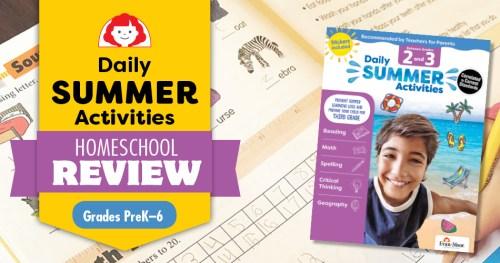 A Homeschool Review of Evan-Moor's Daily Summer Activities