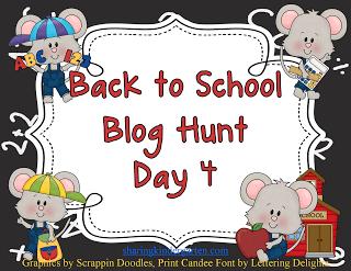 BACK TO SCHOOL BLOG HUNT – DAY 4