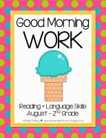 BACK TO SCHOOL MORNING WORK {1ST-3RD GRADE} + FREEBIE - Teacher Idea