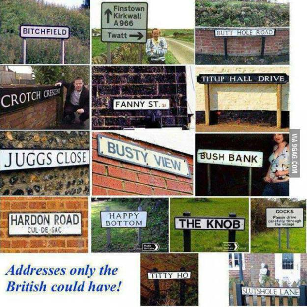 Real place names in the UK