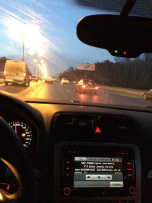 Alexey Алексей keeping an eye on the road in Russia