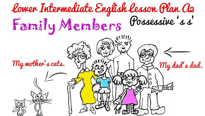 A2 Lower Intermediate English Lesson Plan - Possessive 's s' - family members