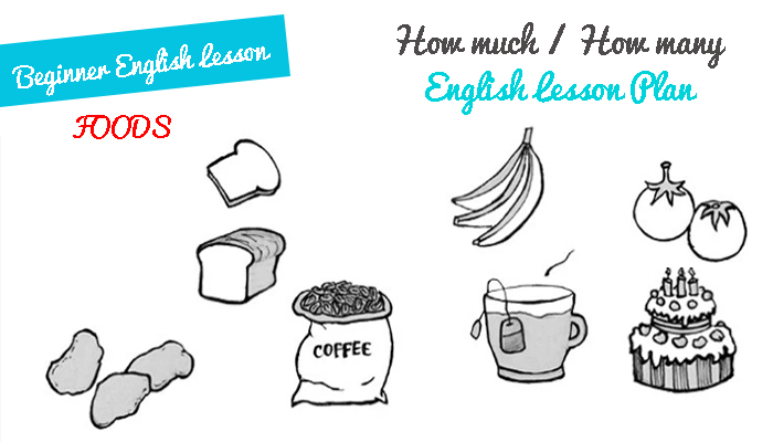 Free Lesson Plan for English Teachers - Countable and Uncountable Nouns - How much and How many - Foods