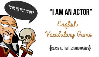 "Class Activities – The ""I am an Actor"" English Vocabulary Game"