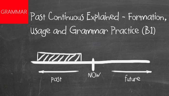 Past continous explained - formation, usage and grammar practice