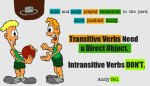 transitive and intransitive verbs - esl grammar
