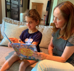 Rose Reading with a Students