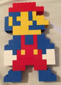 Mario Built From Lego Bricks With Time Lapse Video For