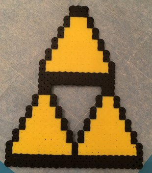 Triforce Perler Bead Pattern