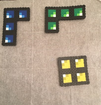 Perler Bead Tetris Bricks Patterns Ironed