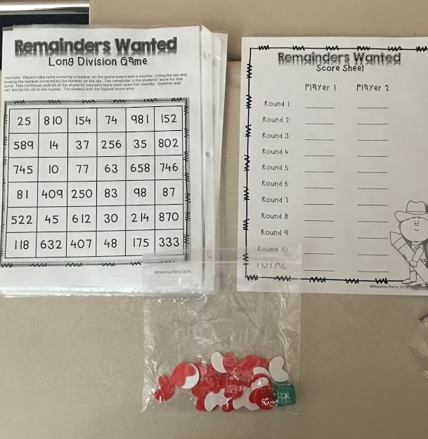 Remainders Wanted Free Long Division Game For Parents