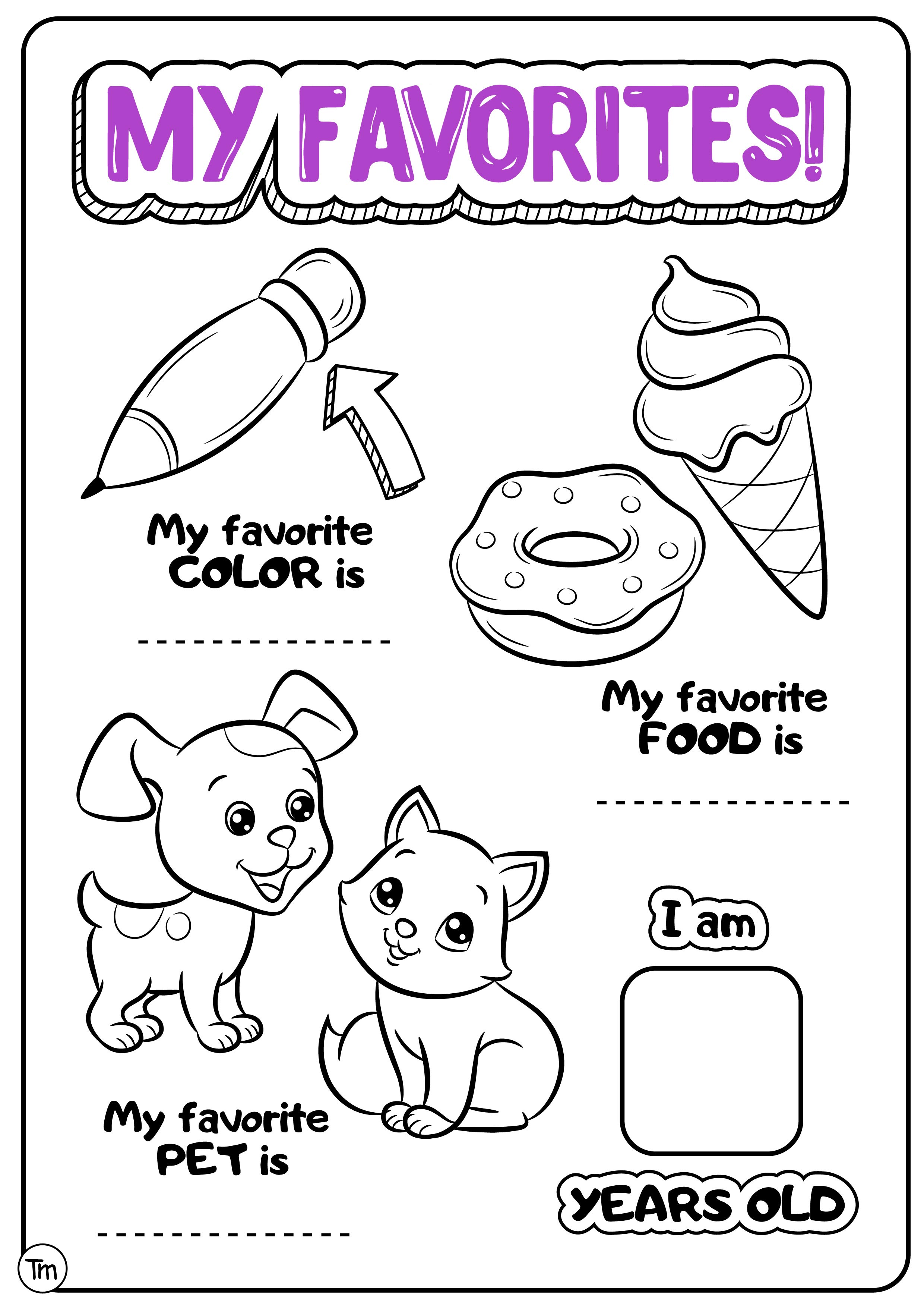The Best All About Me Preschool Printable