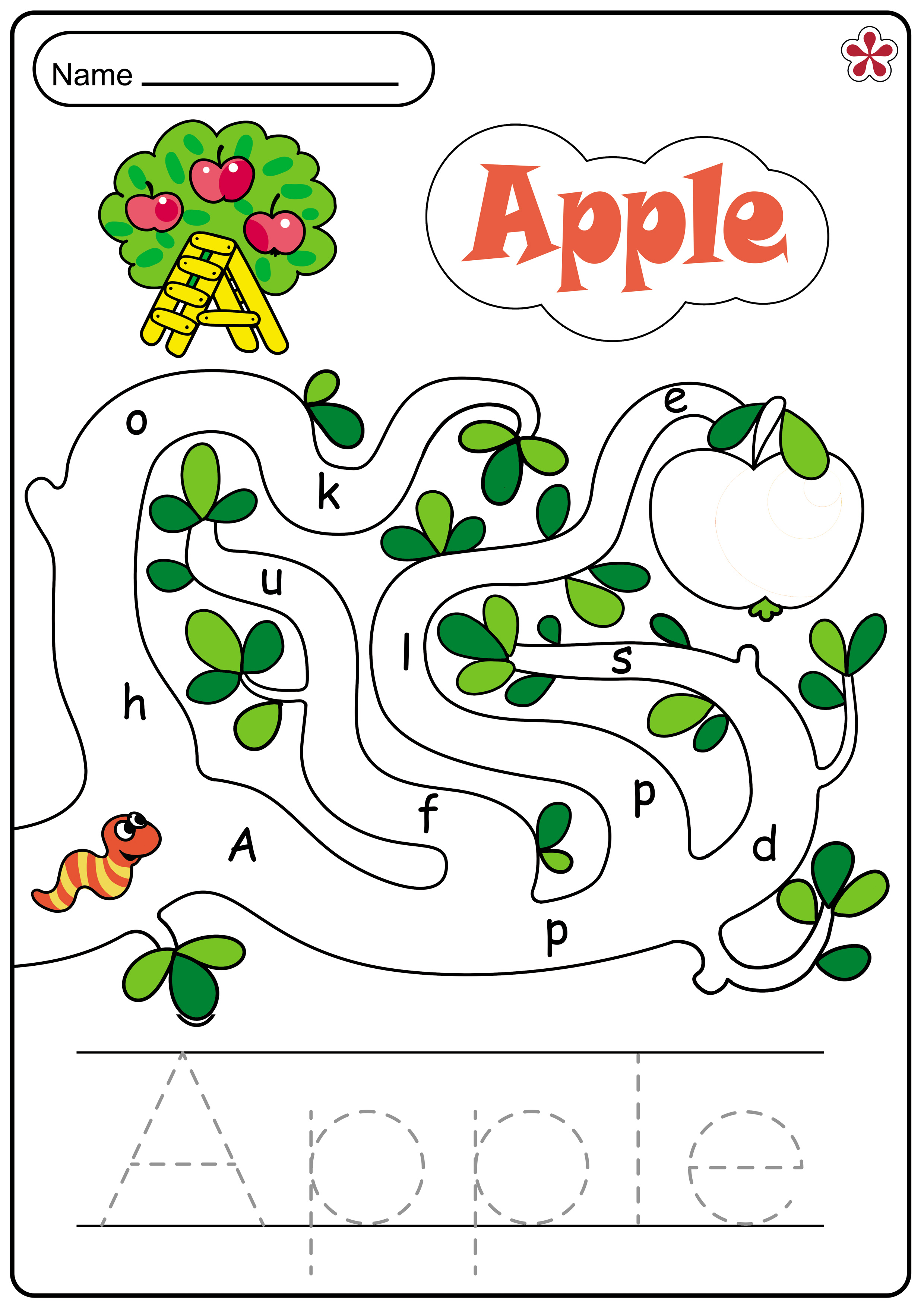 Letter A Word Worksheets