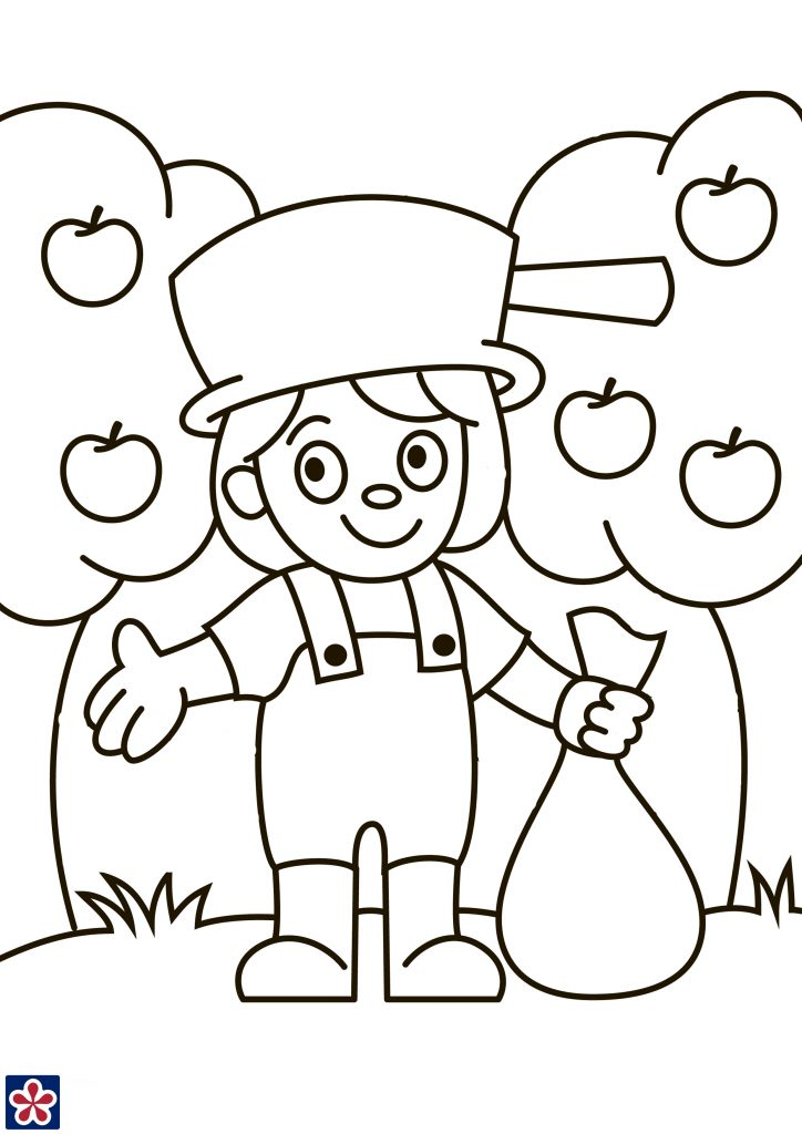 johnny appleseed worksheets and story for kids