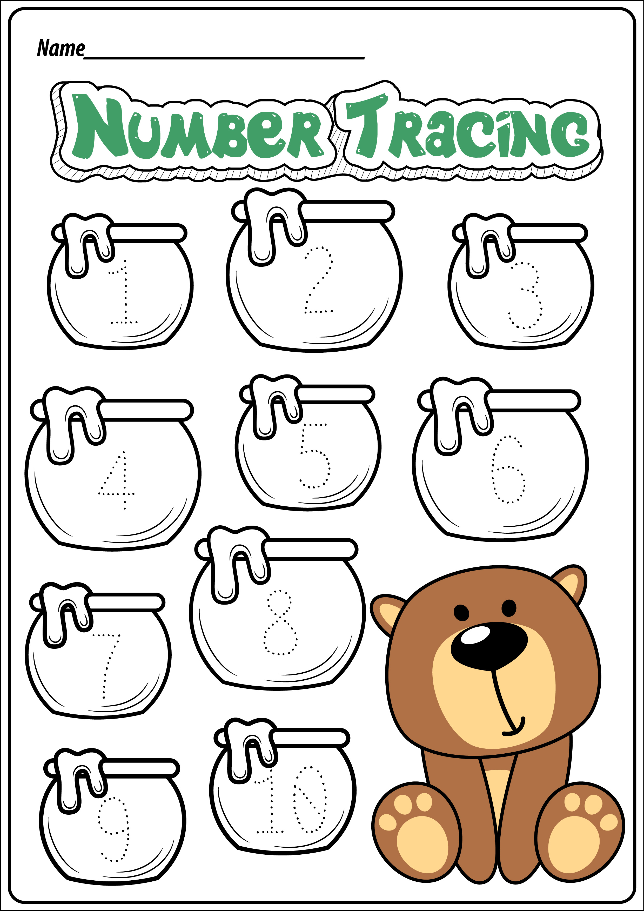 Free Bear Themed Printable Worksheets