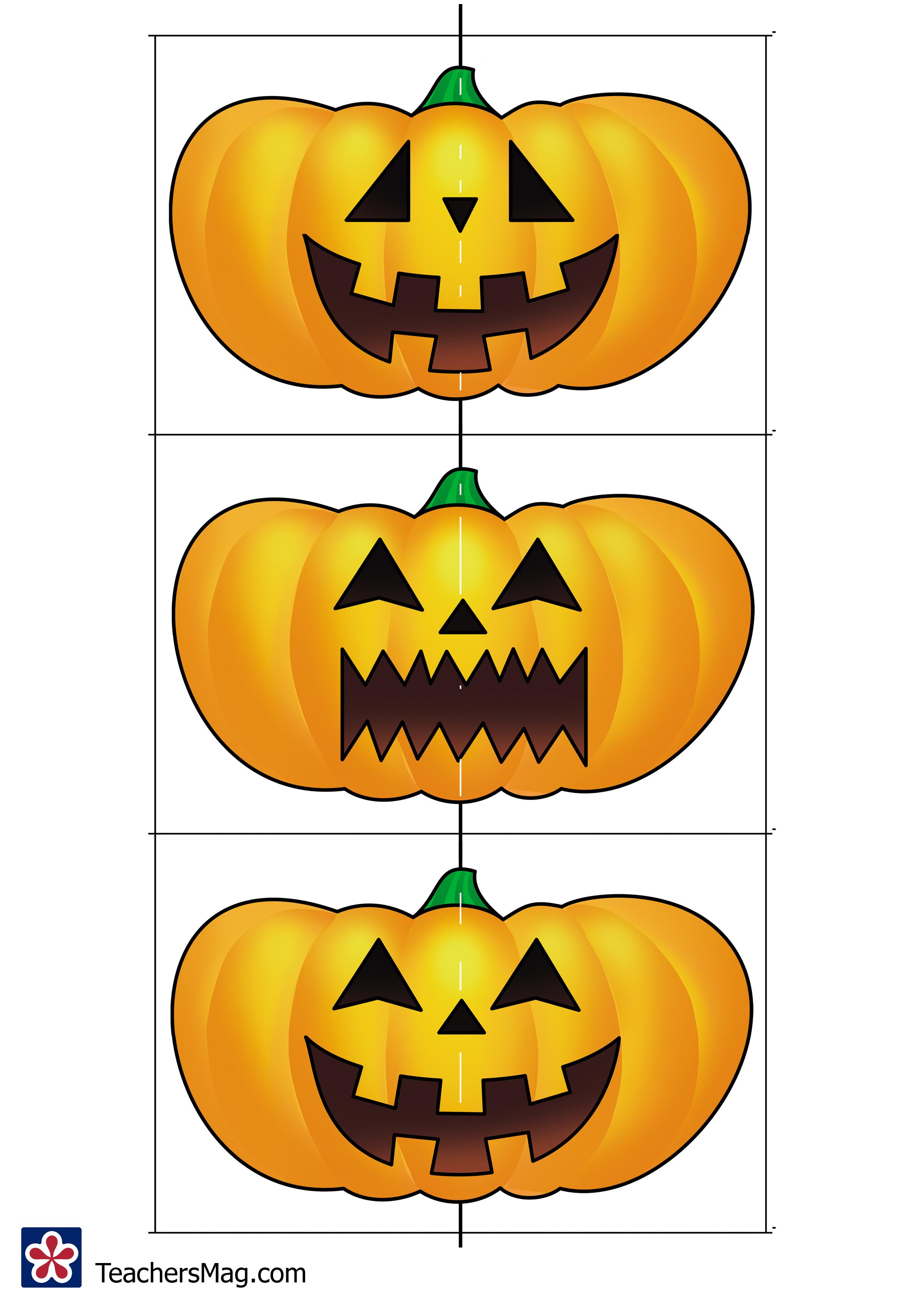 Free Printable Pumpkin Matching Puzzles