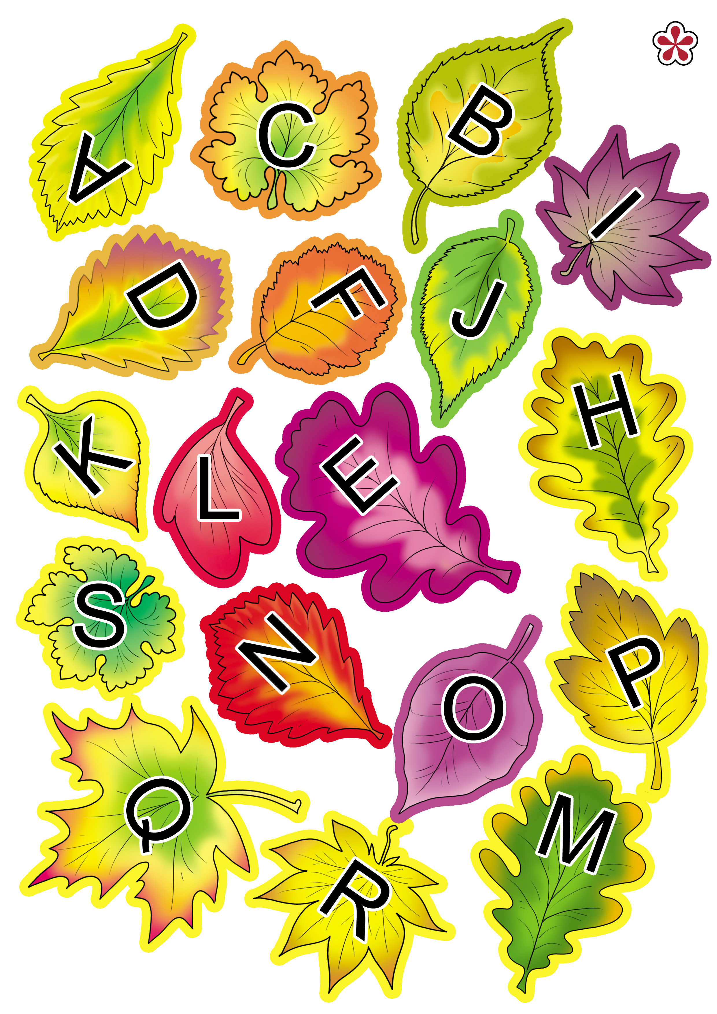 Fall Leaves Letter Matching Activity