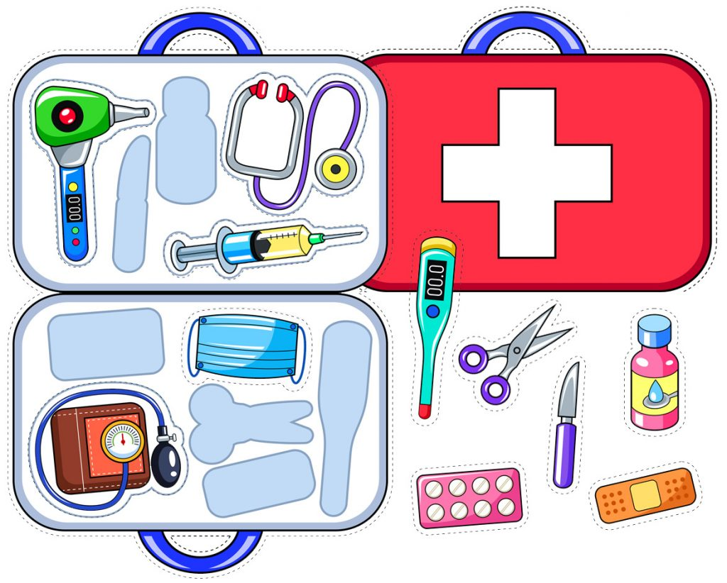 Doctor S Bag Printable Matching Activity For Kids