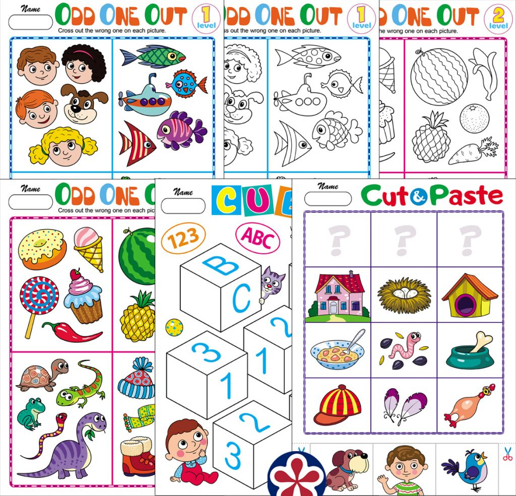 Kindergarten Level Worksheets To Use For Distance Learning