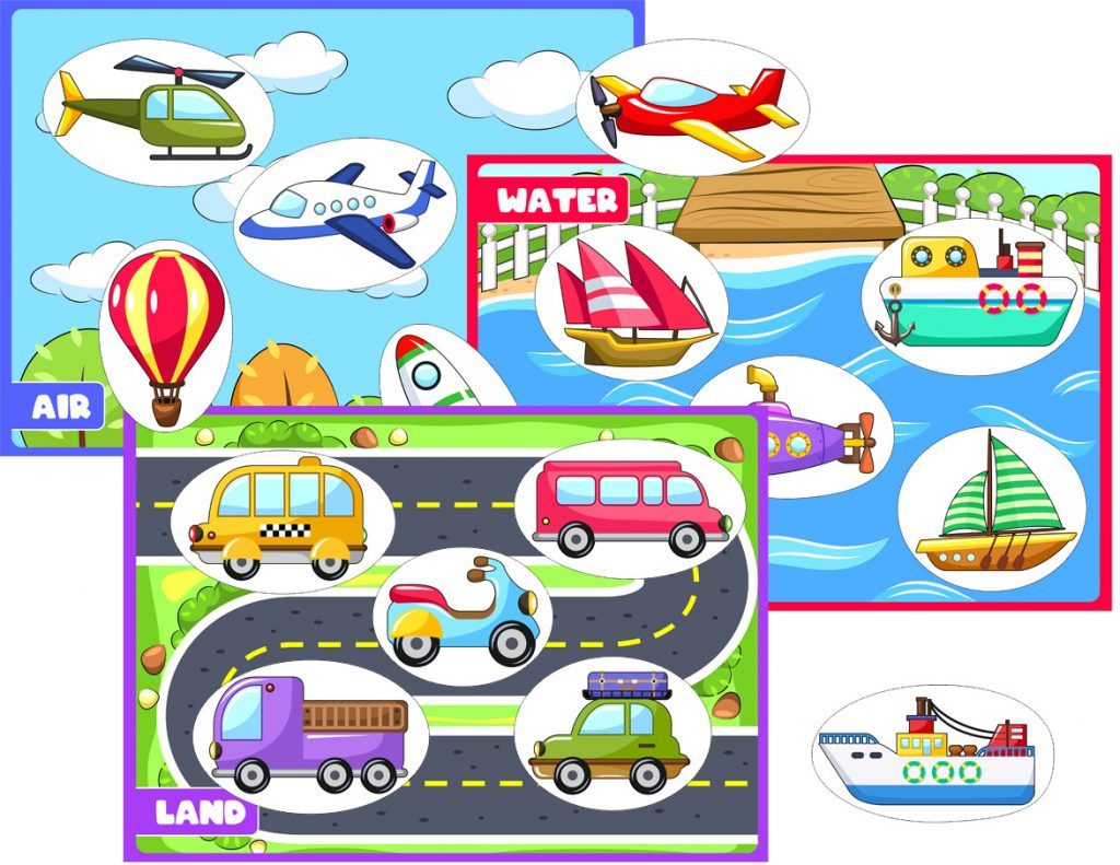 Transportation Worksheets About Land Air And Water For