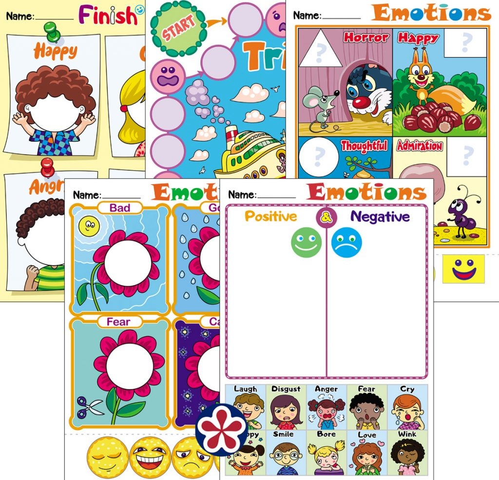 Emotion Themed Worksheets For Kids