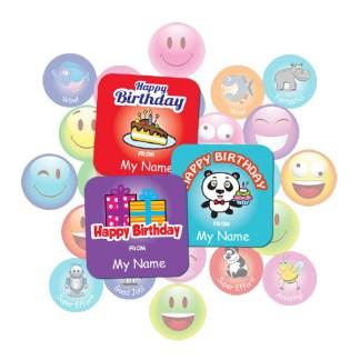Birthday Square Sticker Gift Pack