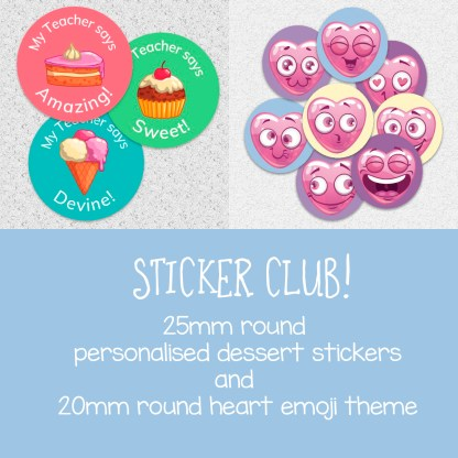 Sticker Club October and November