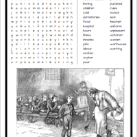 The Victorian Workhouse Free Wordsearch printable