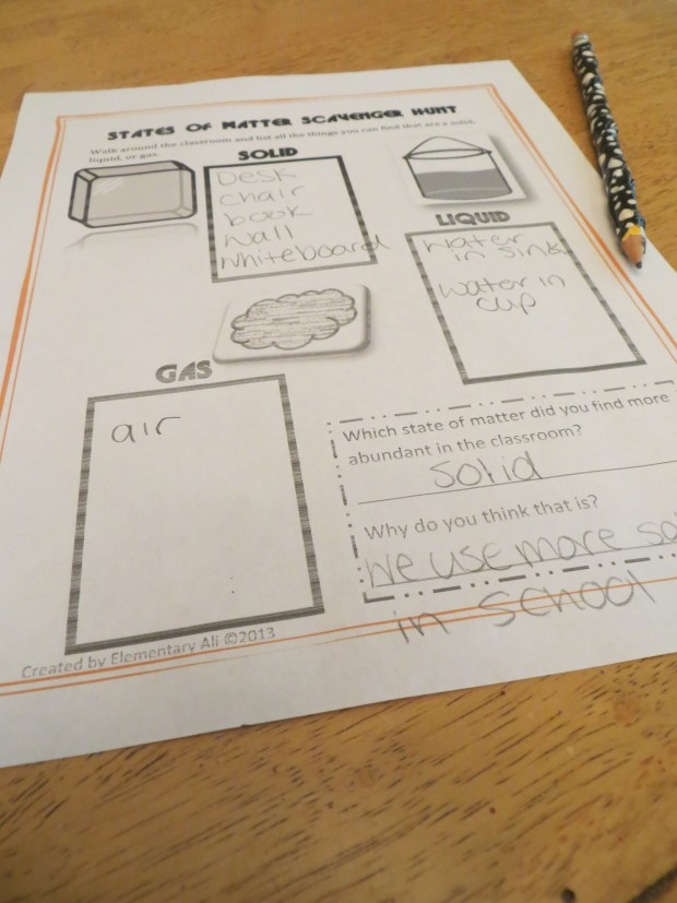 states of matter elementary