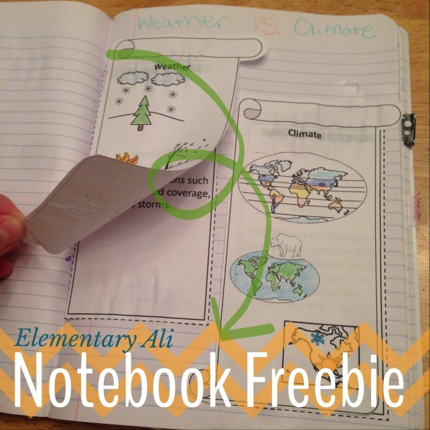 weather vs climate interactive notebook activity (free)