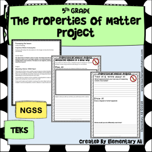 Properties of Matter Project