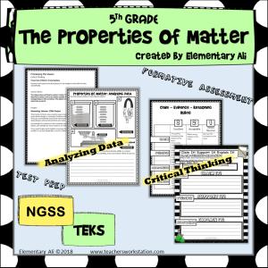Properties of Matter thinking 5th