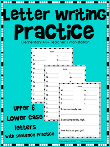 Letter writing Practice single line cover