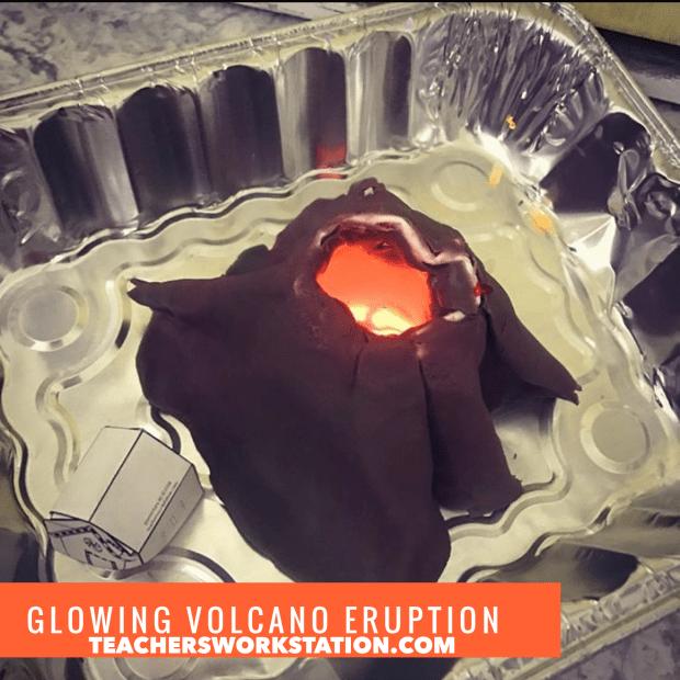 Glowing Foam Volcano Experiment