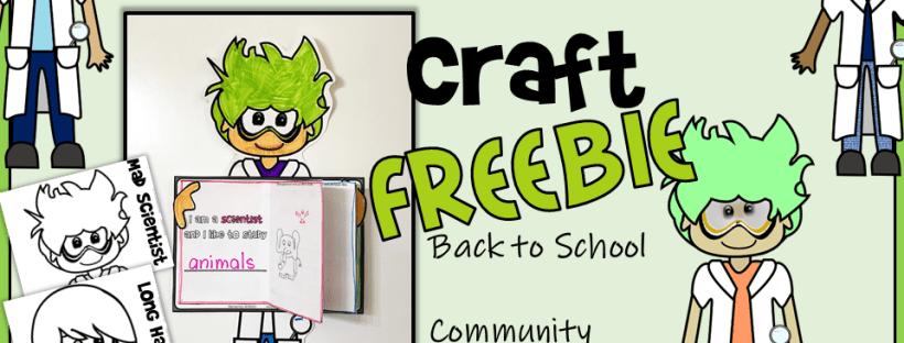 Back to School freebie Science craft